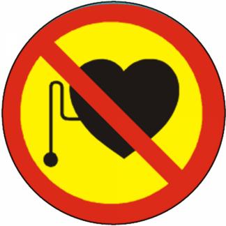 Interdit aux personnes portant des pacemakers
