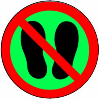 Interdit aux chaussures